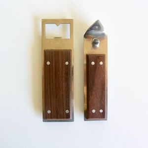 Mid Century Bottle and Can Opener Set